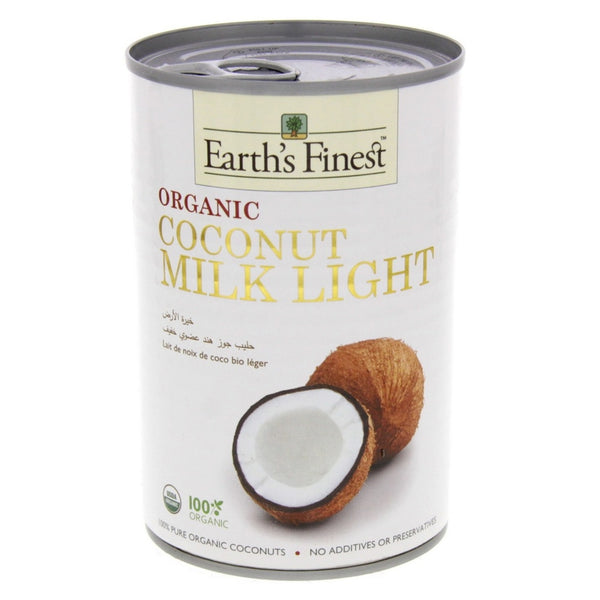EARTH'S FINEST Organic Coconut Milk Light, 400ml