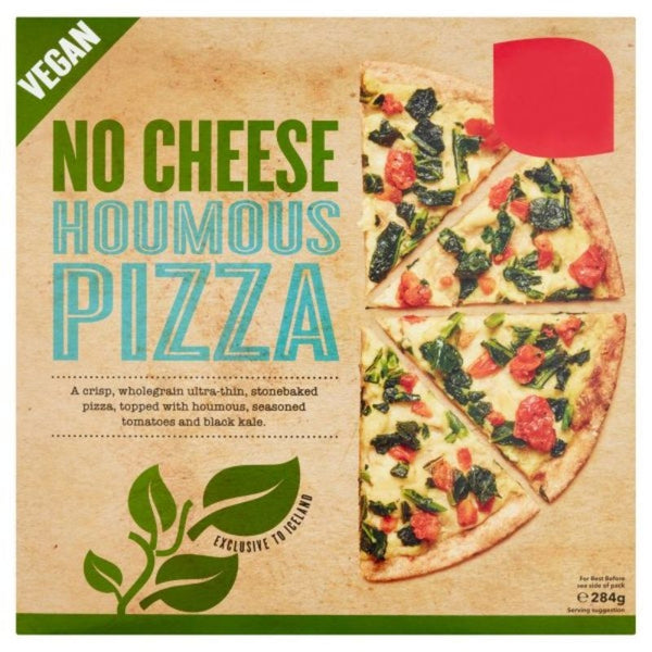 EXCLUSIVE TO ICELAND No Cheese Houmous Vegan Pizza, 284gm