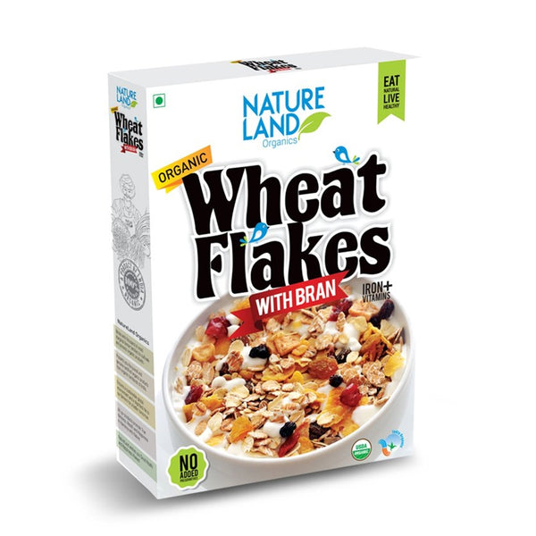 NATURELAND Organic Wheat Flakes, 250gm