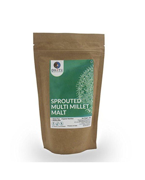 DHATU Sprouted Multi Millet Malt — 200G