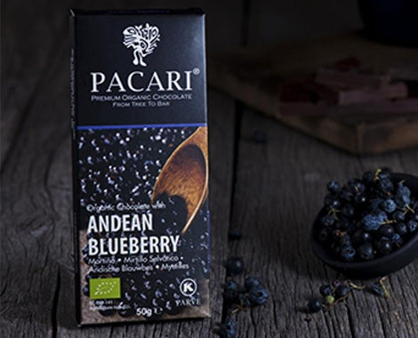 PACARI - Andean Blueberry Chocolate Bar,60%, 50g - Vegan