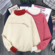 Long Sleeve Wool Pullover Sweatshirts - ByDivStore