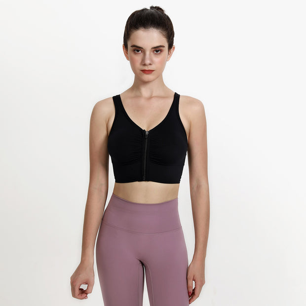 Women's Zipper Sports Bra - ByDivStore