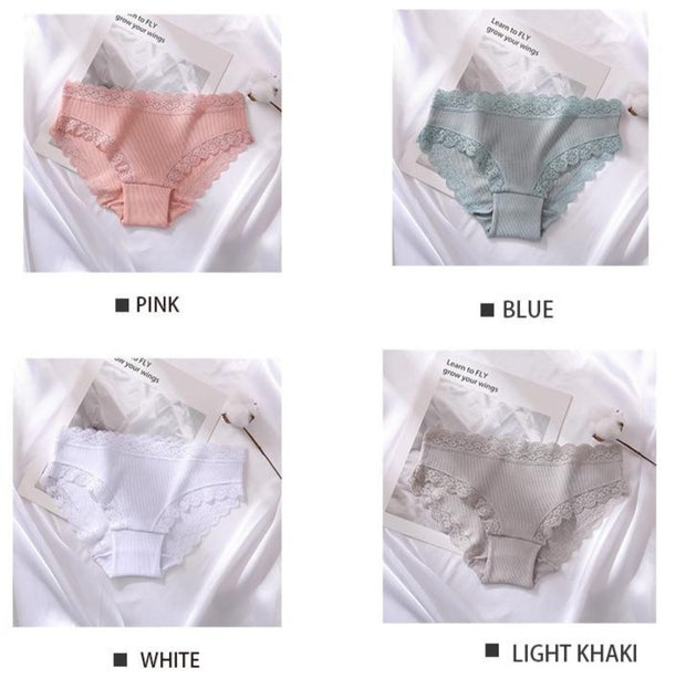Women's 3Pcs Soft Cotton Panties - ByDivStore