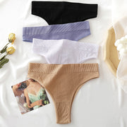 Women's 2Pcs Thong High Waisted Panties - ByDivStore