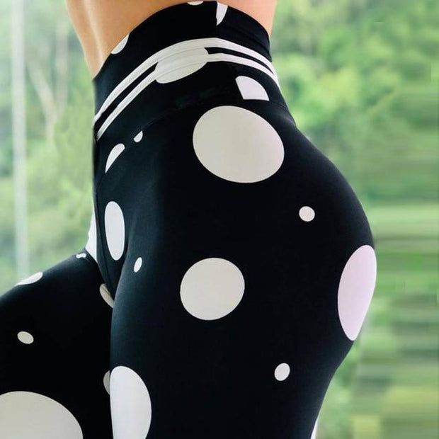 High Waist Water droplets Tight Leggings - ByDivStore