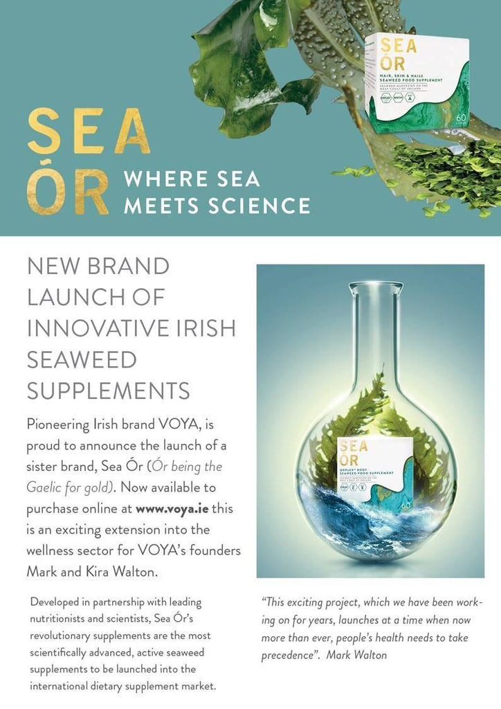 Voya Organic Beauty moves into Supplements with Sea Ór