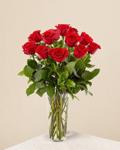 Load image into Gallery viewer, One Dozen Roses in Vase