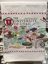 Load image into Gallery viewer, University of Utah and BYU Dishtowel