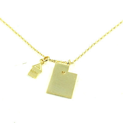 State Necklaces in Gold and Silver