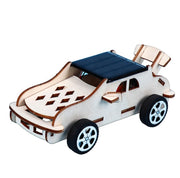 Solar powered assembly car kit DIY car
