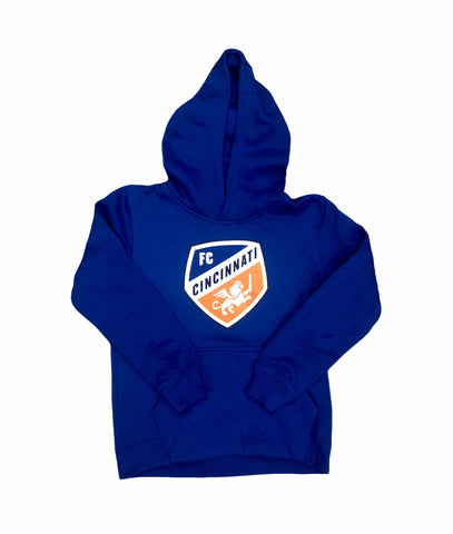 Crest Hoodie Youth Blue