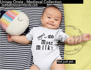 "Baby-Clothing421 - ""And More Milk"" Short Sleeve Cotton Graphic Baby Onsie Jumper"