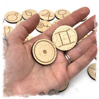 Astrology Coins for Altars and spellwork