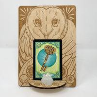 Owl Card Display Easel