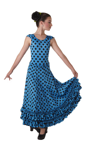 Polka Dot Flamenco Skirt w/ Ruffle