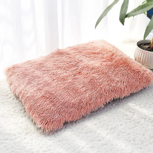 Long Plush Fleece Bed