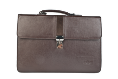Executive Handmade Leather Briefcase - Brown - Avallone - 3