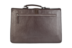 Executive Handmade Leather Briefcase - Brown - Avallone - 4