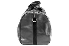1st Class Traveler - Black - Handmade Italian Leather Duffle Bag - Avallone - 3