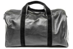 1st Class Traveler - Black - Handmade Italian Leather Duffle Bag - Avallone - 2