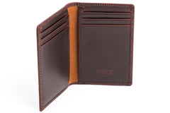 Antique Front Pocket Mens Leather Wallet - Avallone - 3