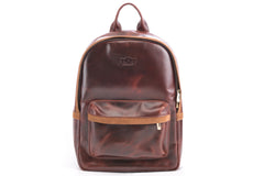 Antique Luxury Leather Backpack - Avallone - 2