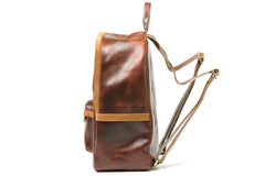 Antique Luxury Leather Backpack - Avallone - 4