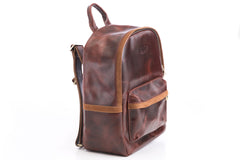 Antique Luxury Leather Backpack - Avallone - 1