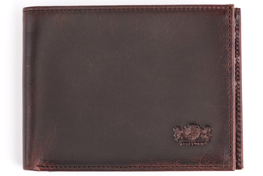 Antique Bi-Fold Mens Leather Wallet - Avallone - 1
