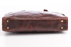 Antique Luxury Leather Briefcase - Avallone - 7
