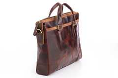 Antique Luxury Leather Briefcase - Avallone - 2