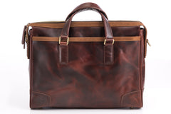 Antique Luxury Leather Briefcase - Avallone - 3
