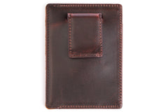 Antique Money Clip Mens Leather Wallet - Avallone - 2
