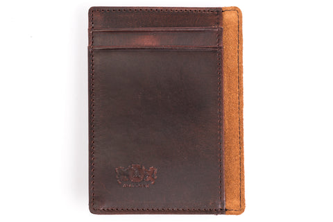 Antique Money Clip Mens Leather Wallet