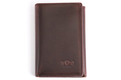 Antique Tri-Fold Mens Leather Wallet - Avallone - 3