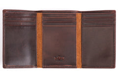 Antique Tri-Fold Mens Leather Wallet - Avallone - 2