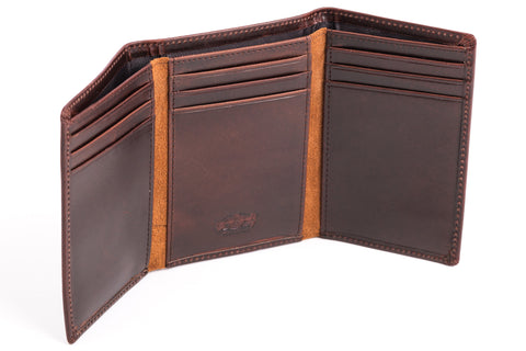 Antique Tri-Fold Mens Leather Wallet