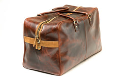 Antique Leather Weekender Bag - Avallone - 2