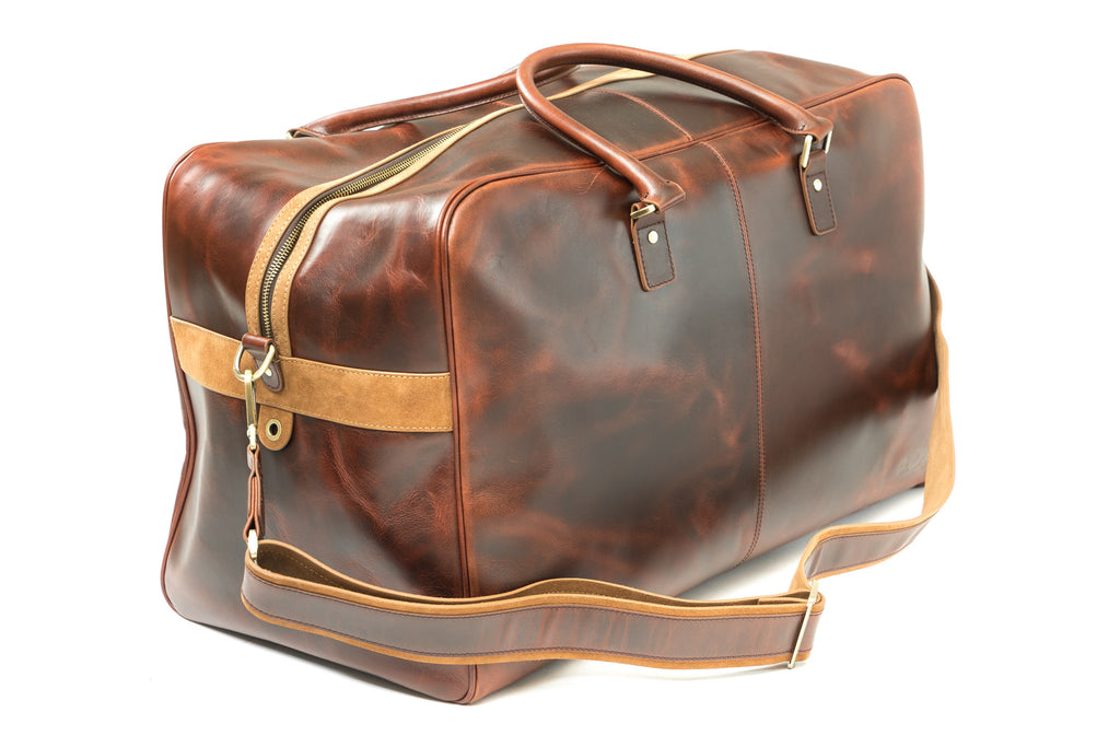 Antique Leather Weekender Bag - Avallone - 1