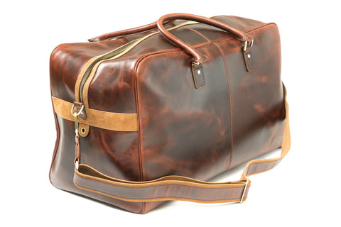 Antique Leather Weekender Bag
