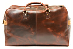 Antique Leather Weekender Bag - Avallone - 3