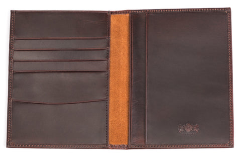 Antique Passport Holder Leather Wallet