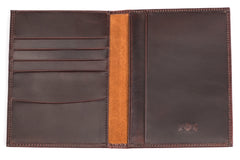 Antique Passport Holder Leather Wallet - Avallone - 1