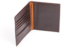 Antique Passport Holder Leather Wallet - Avallone - 3