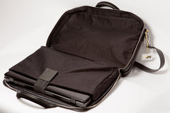 Executive Leather Laptop Holder - Black Italian Napa Leather - Avallone - 3