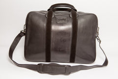 Executive Leather Laptop Holder - Black Italian Napa Leather - Avallone - 2