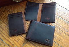 Antique Bi-Fold Mens Leather Wallet - Avallone - 5
