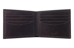 Men's Canvas & Leather Bi-Fold RFID Wallet - Grey - Avallone - 2
