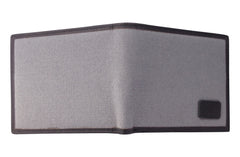 Men's Canvas & Leather Bi-Fold RFID Wallet - Grey - Avallone - 4
